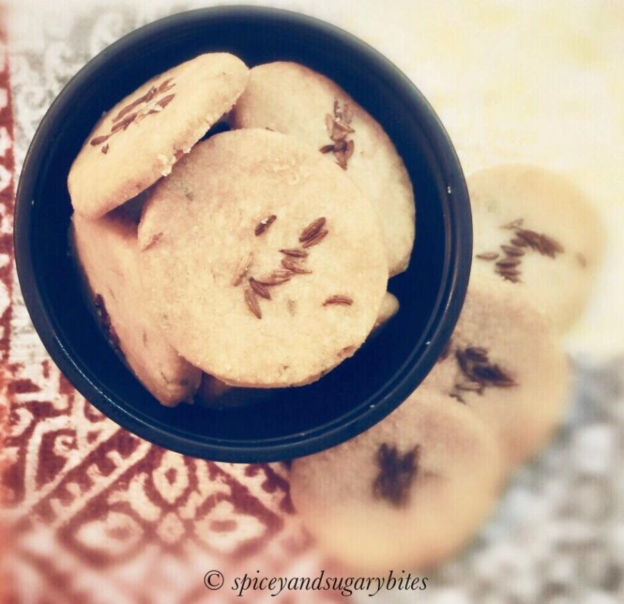 Jeera Biscuit/Cumin Cookies(Eggless)